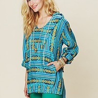 Free People Patterned Poncho