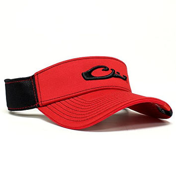 Drake Waterfowl Game Day Fitted Visor Georgia Black and Red M/L