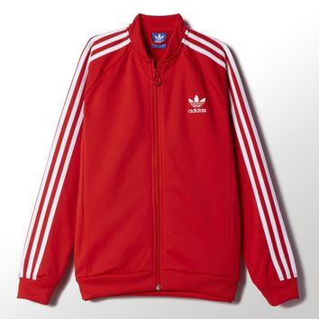 adidas Superstar Track Jacket - Red | adidas US