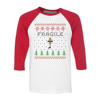 Fragile Leg Lamp Sweater Baseball Tee
