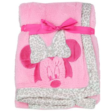 Disney's Minnie Mouse Applique Sherpa Blanket