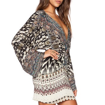 Camilla Short Twist Front Dress in Call of the Wild