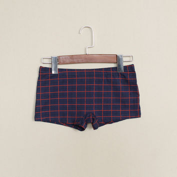 New Lots 3 Per piece Lesbian Tomboy Plaid Cotton Boxers Neutral Female Causal Panties Handsome Les T Trans Cool Underwear