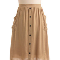 Khaki in the Day Skirt