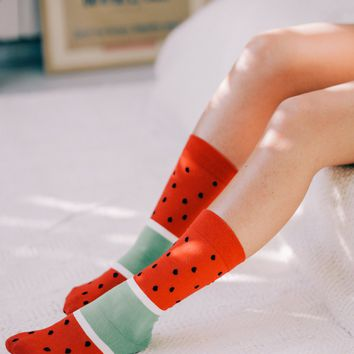 Watermelon Ice Pop Socks