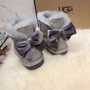 x1love  UGG : girl Large bow tie Keep warm Snow boots