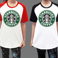 Unisex - Starbucks Star Bucks Coffee Logo Men Women Short Sleeve Baseball Shirt Tshirt Jersey