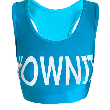 #OWNIT - Blue - Beach Fitness Crop Top