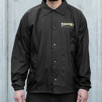 Thrasher Magazine Shop - Thrasher Pentagram Coach Jacket (Black)