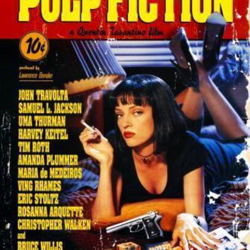 Pulp Fiction movie poster Sign 8in x 12in
