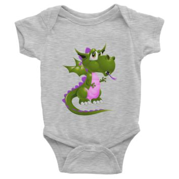 Draco Green Purple Infant short sleeve one-piece