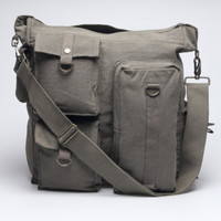 Vintage Multi-Pocket Shoulder Bag