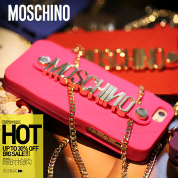 Moschino Chain Messenger case for iphone 5/6/plus