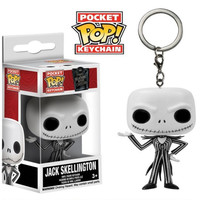1.5 Inches Funko POP Vinyl Figure The Nightmare Before Christmas Keychain Skeleton Jack Key Ring Hanger Come with Original Box