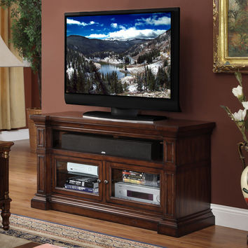 Berkshire 52 Inch Entertainment Cabinet TV Stand Distressed Umber