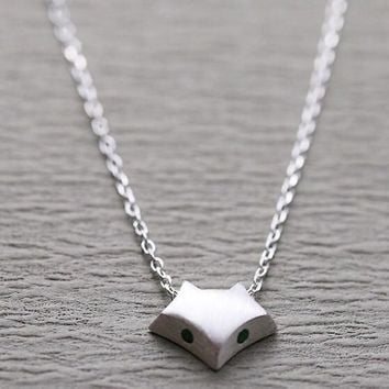 cute fox 925 silver necklace gift box jewelry 74  number 1