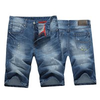 Denim Summer Men Pants Shorts [10699377155]