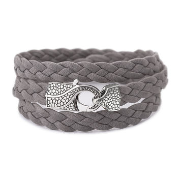 Rayman Multi-Wrap Men's Bracelet, Gray - Stephen Webster
