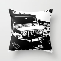 Jeep Throw Pillow by Bwoodstockfoto