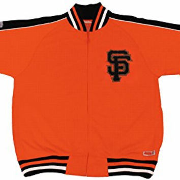MLB San Francisco Giants Contrast Shoulder Track Jacket, Orange, Large