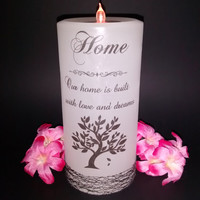 Home Decor, Home Accents, Candles, Housewarming Gift, New Home Candle, Inspirational Candle, Decor Candles, Custom Decor, Unique Candle