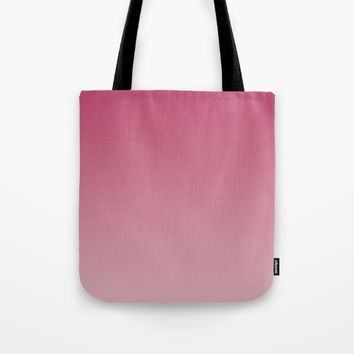 Soft Rose Ombre (Reverse) Tote Bag by Lindsay