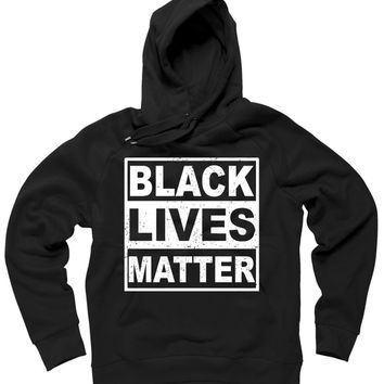 Distressed Black Lives Matter Logo Hoodie | TeeShirtPalace