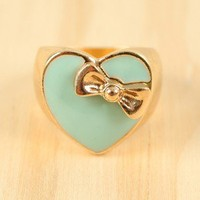 Chocolate Heart Candy Ring