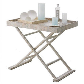 Driftwood Butler's Tray Table
