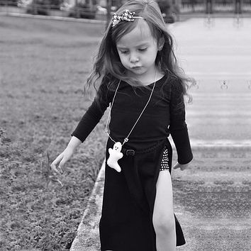 Girls Dress Cotton Baby Daughter Princess Dress Girl Costumes for Children Dress with Lovely Drawing