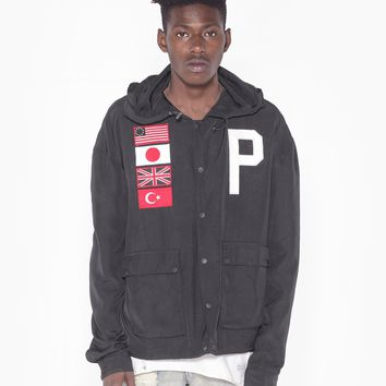 Four-Flag Worldwide Tech Parka in Black