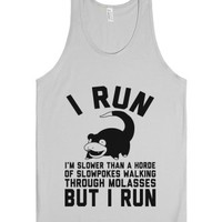 I Run Slower than Slowpoke-Unisex Silver Tank
