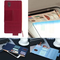 Car Sun Visor CD Pocket Organizer Pouch Bag Pocket Card Storage Holder Waterproof PU Car Sun Visor Storage Bag