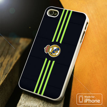 Real Madrid Strip Flag Green iPhone 4 5 5C SE 6 Plus Case