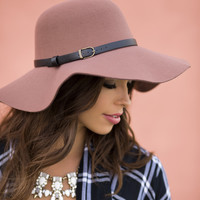 Leila Rust Floppy Hat