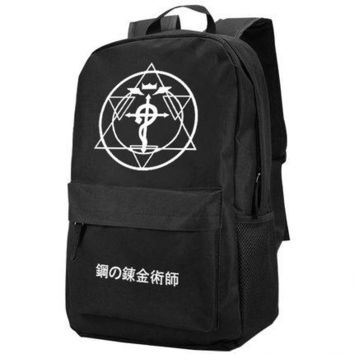 Anime Backpack School New kawaii cute Fullmetal Alchemist Backpack Fashion Oxford SchoolBag Unisex AT_60_4