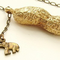 Circus Peanut Necklace life size peanut necklace in by soradesigns