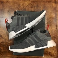 Adidas Originals NMD R2 GREY FUTURE HARVEST Running Shoes Men's 10 NEW IN BOX