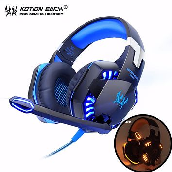 Kotion G2000 Computer Stereo Gaming Headphones with Mic LED Light