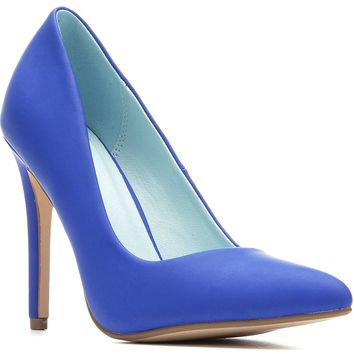 Cindy Delicious Classic Pointy Toe Heels Women's Shoes Cobalt Blue