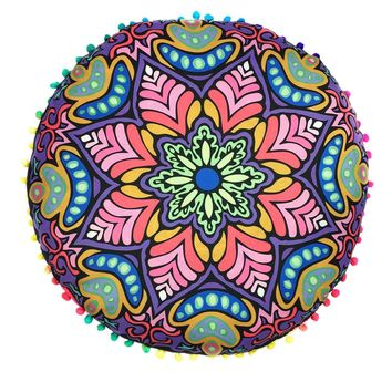7 patterns new Indian Mandala Floor Pillows  7