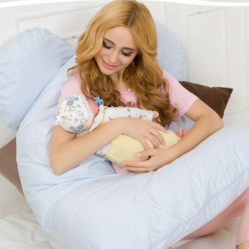 Body Pillows Sleeping Pregnancy Pillow Belly Contoured Maternity U Shaped Removable Cover
