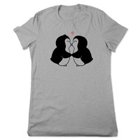 Funny Shirt, Penguin Shirt, Penguin TShirt, Animal T shirt, Cute Penguin T Shirt, Funny Tee, Arctic Animal Tshirt, Ladies Women Plus Size
