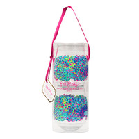 Lilly Pulitzer Stemless Acrylic Wine Glasses- Lilly's Lagoon- FINAL SALE
