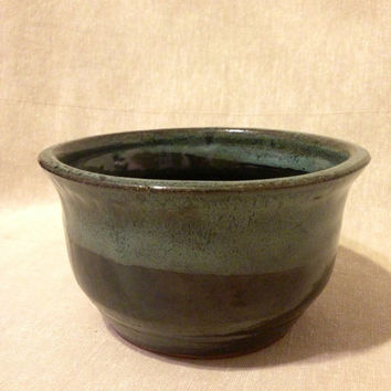 Wheel thrown Stoneware cereal bowl rice bowl perfect gift for him