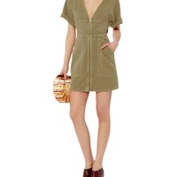 Novak Cotton Twill Zip Dress