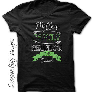 Family Reunion Shirt - Womens Camping Tshirt / Mens Family Party / Kids Family Shirt / Customized Toddler Tee / Family Reunion Tshirt / Baby
