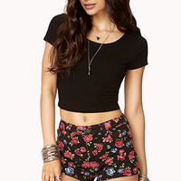 Rockin' Rose Denim Shorts