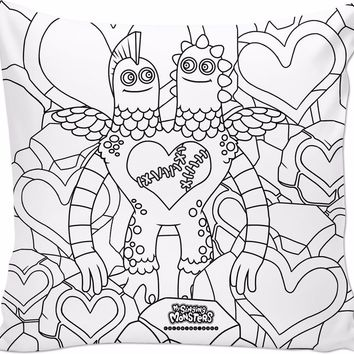 ROCP My Singing Monsters: Coloring Book Rare Schmoochle Pillow