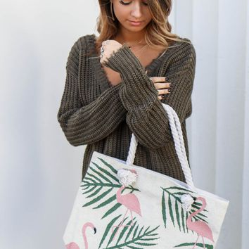 Flamingo Beach Bag